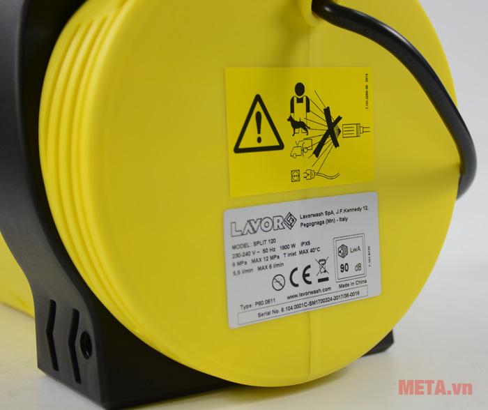 Máy rửa xe áp lực Lavor Split 120 có độ ồn 90 db