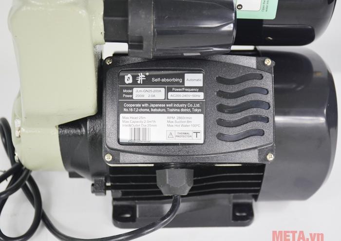 Máy bơm nước tăng áp tự động JLM 60-200A (JLM-GN25-200A) nhỏ gọn nhưng bền bỉ