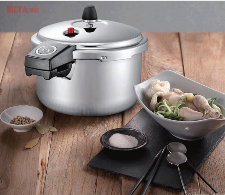 Nồi áp suất Hàn Quốc an toàn hơn khi nấu