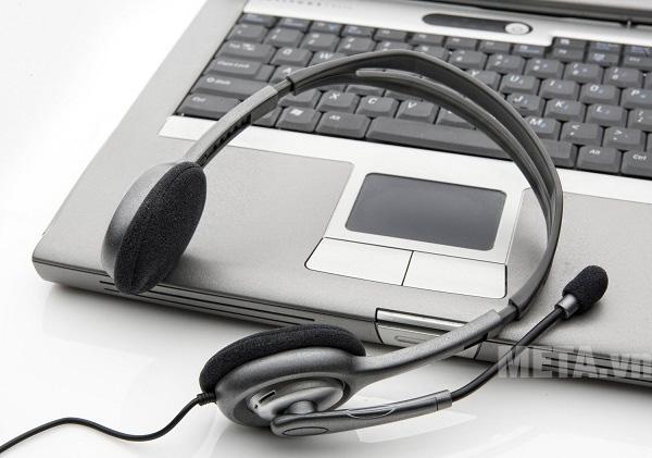 Tai nghe Logitech H110 có khả năng kết nối với PC, Laptop, Smartphone