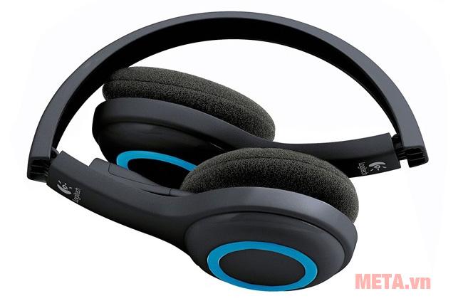 Tai nghe không dây Logitech H600 có thể linh hoạt gập gọn lại