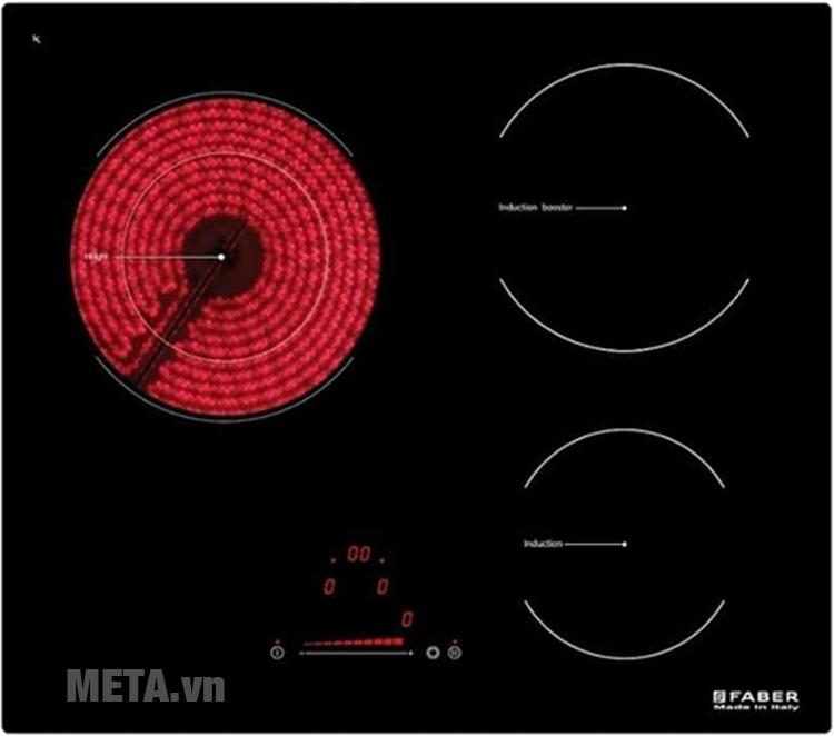 Bếp từ hồng ngoại kết hợp Faber FB-60H2I có thiết kế cảm ứng hiện đại
