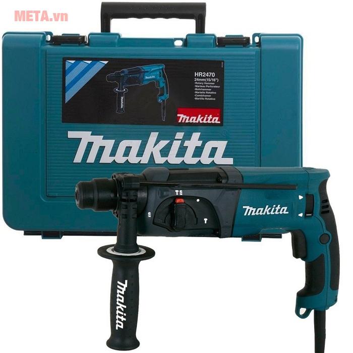 Bộ sản phẩm máy khoan Makita có hộp đựng đi kèm