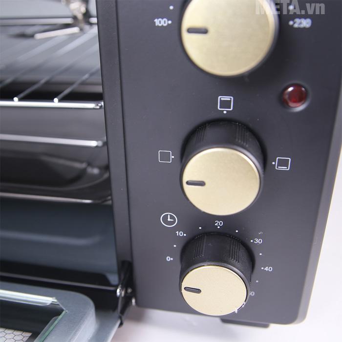 Lò nướng thùng có điều kiển núm vặn dễ sử dụng