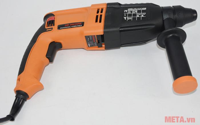 Máy khoan bê tông Gomes GB-2603SRE màu cam đen