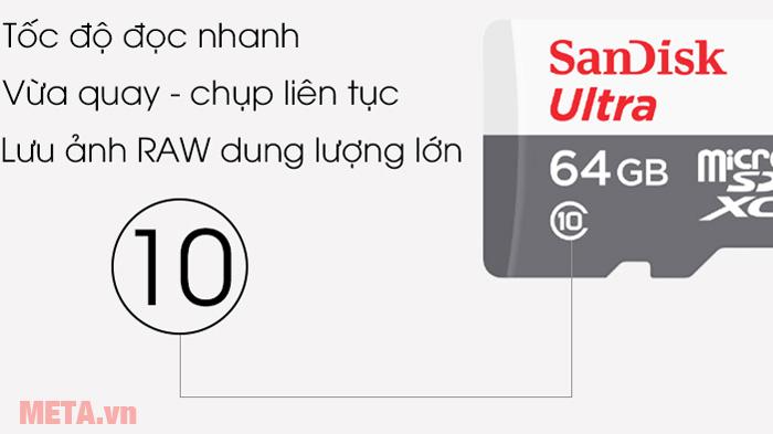 Thẻ nhớ 64GB SanDisk Ultra micro SDHC Class 10