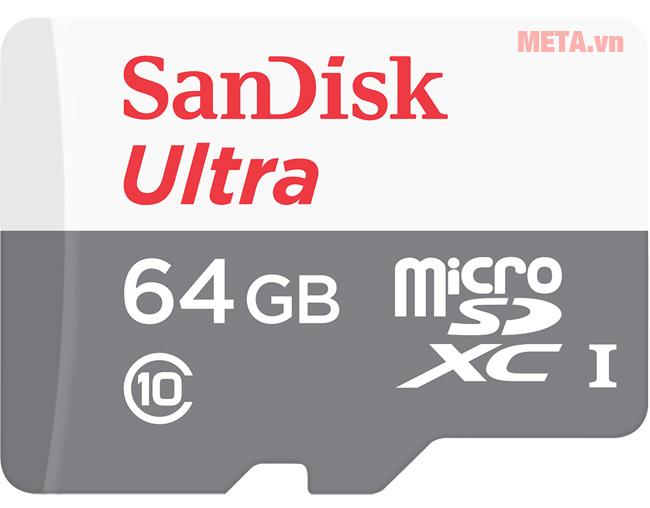 Thẻ nhớ 64GB SanDisk Ultra micro SDHC có tốc độ đọc lên đến 80 MB/s