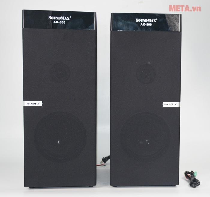 Loa vi tính SoundMax AK800 2.0 kết nối bluetooth và có chức năng Karaoke