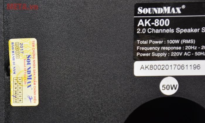 Tem chính hãng Soundmax