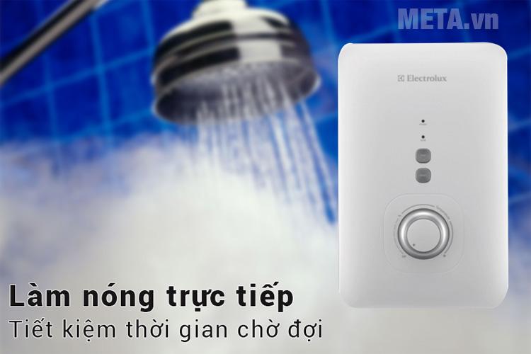Máy nước nóng trực tiếp Electrolux EWE351AX-SW có khả năng làm nóng trực tiếp