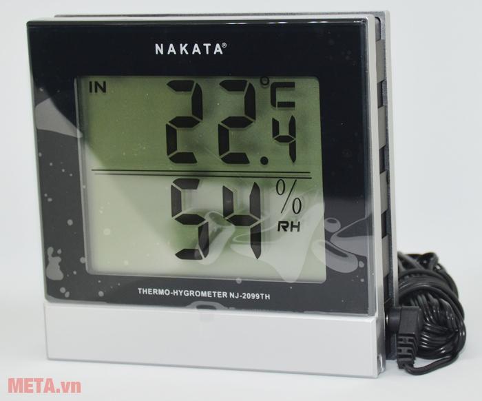 Nhiệt ẩm kế Nakata NJ-2099-TH đo nhiệt độ bằng đầu dò