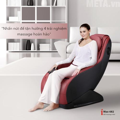 Maxcare Max682 có 3 chế độ massage tự động và một chế độ massage nhanh