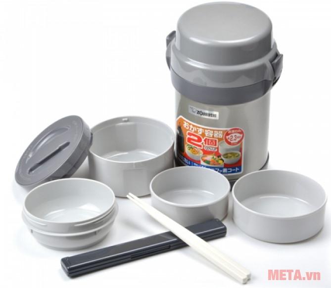 Bình đựng thức ăn Zojirushi SL-JAF14 có kiểu dáng sang trọng