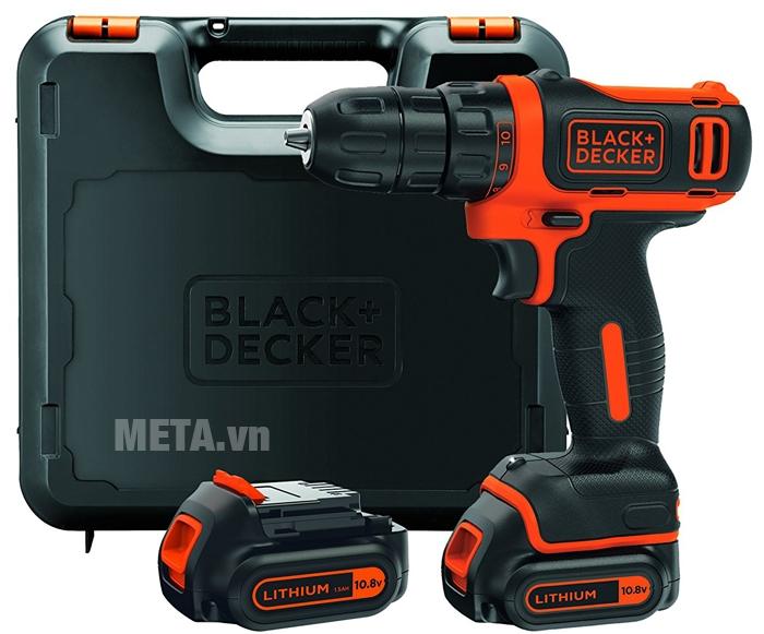 Máy khoan vặn vít dùng pin Black&Decker BDCDD12KB màu đen cam