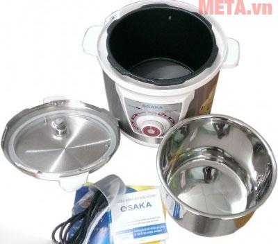 Trọn bộ sản phẩm nồi áp suất điện Osaka IPM-05SG - 5 lít