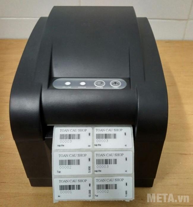 Máy in mã vạch Xprinter XP-350B màu đen
