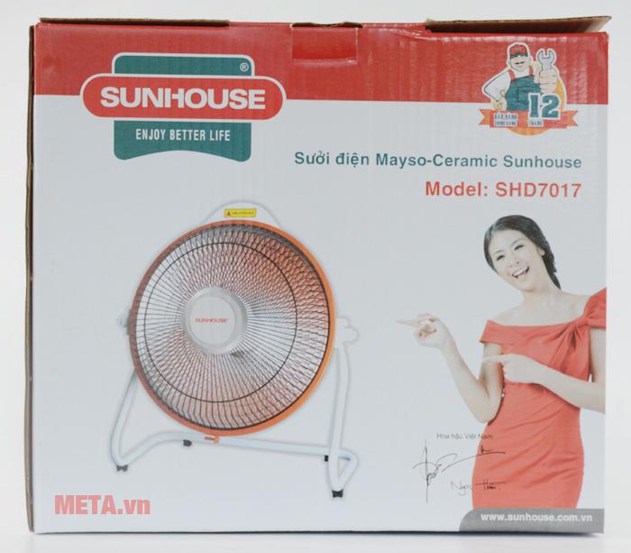 Sưởi điện Mayso - Ceramic Sunhouse SHD7017 có hộp giấy