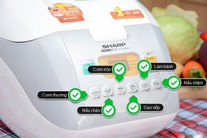 6 chế độ nấu tự động trên nồi cơm điện