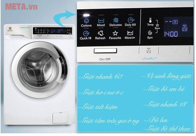 Máy giặt cửa trước 11kg Electrolux EWF14113 với các chương trình giặt