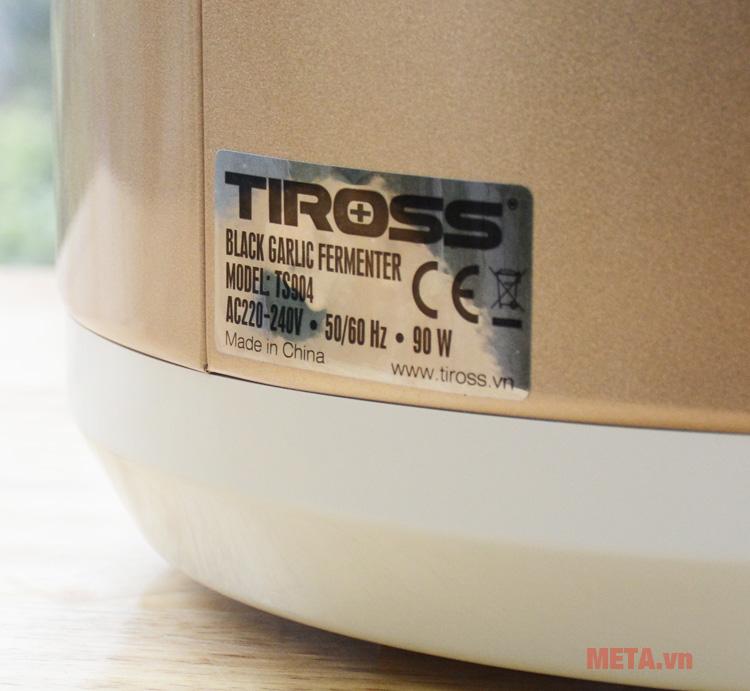 Các thông số kỹ thuật của máy làm tỏi đen Tiross TS904Các thông số kỹ thuật của máy làm tỏi đen Tiross TS904