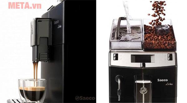 Máy pha cà phê Saeco Lirika Basic Black phù hợp sử dụng tại nhà hàng, khách sạn, gia đình