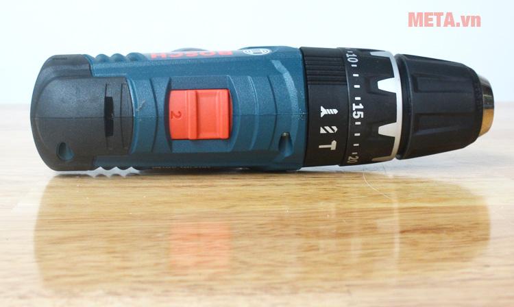 Kích thước đầu máy khoan vặn vít động lực dùng pin Bosch GSB 120-LIKích thước đầu máy khoan vặn vít động lực dùng pin Bosch GSB 120-LI