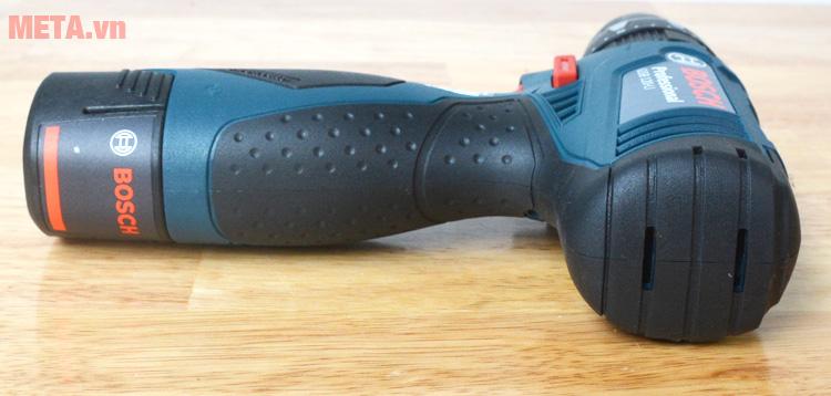 Máy khoan vặn vít động lực dùng pin Bosch GSB 120-LI có tay cầm chống trơn trượt