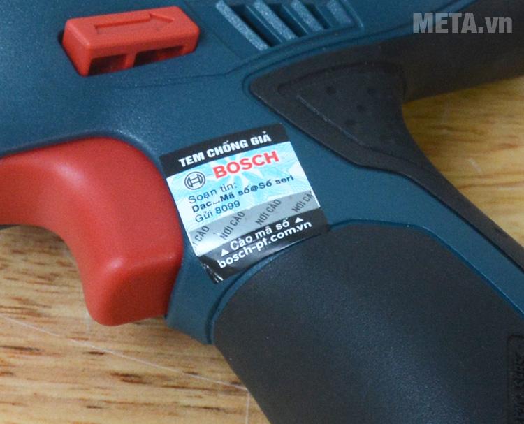 Máy khoan vặn vít động lực dùng pin Bosch GSB 120-LI có tem chống hàng giả