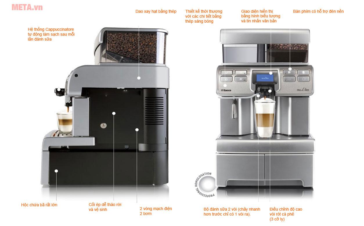 Máy pha cà phê Saeco Aulika Top HSC có khả năng pha cà phê nhanh chóng