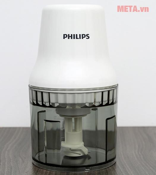 Máy xay thịt Philips HR1393 Xay thực phẩm chỉ với một nút chạm