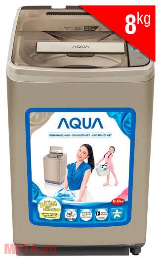Máy giặt cửa trên Aqua AQW-F800AT 8kg