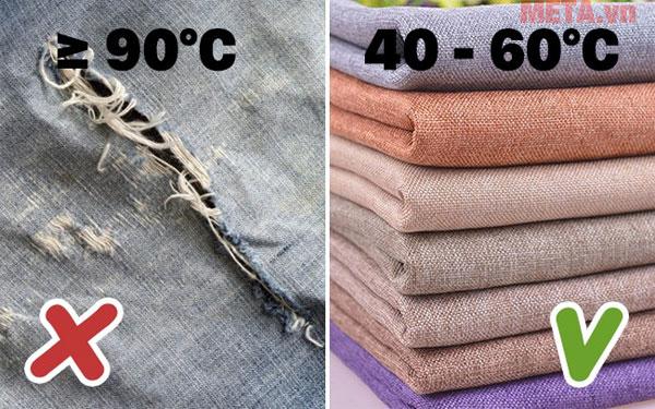 Bạn không nên giặt quần áo với nước quá nóng hoặc quá lạnh