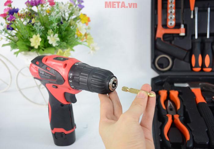Các mũi khoan được thiết kế giúp bạn tháo lắp dễ dàng