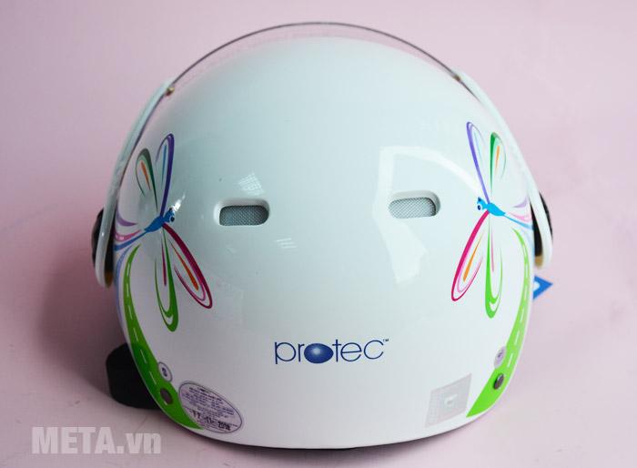 Mũ bảo hiểm màu trắng