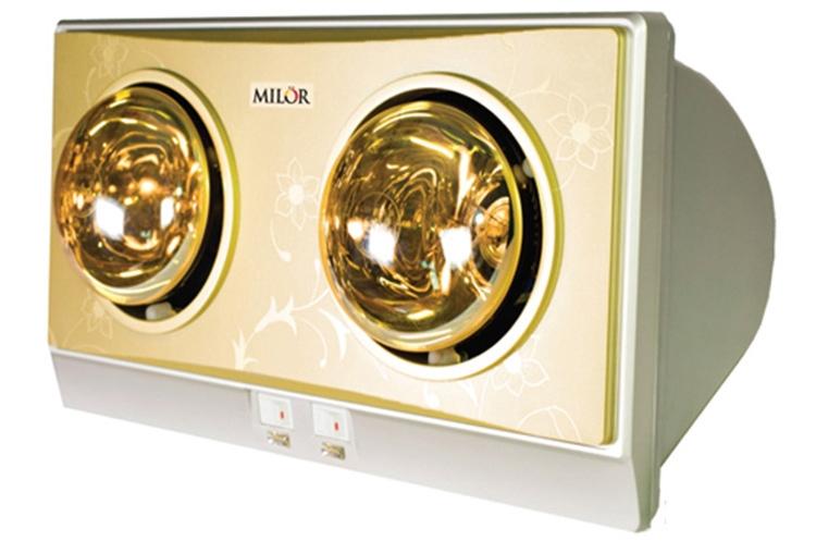 Đèn sưởi nhà tắm 2 bóng Milor ML6002