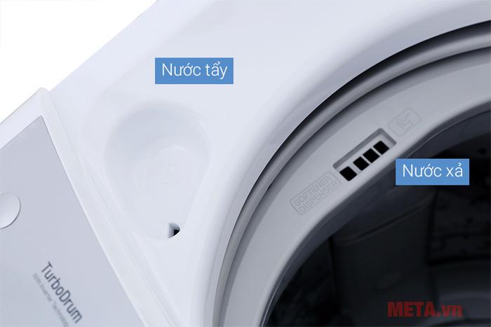 Đặc biệt máy giặt có khay đựng nước tẩy