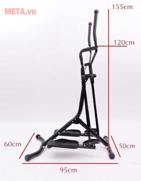 Kích thước máy đi bộ trên không