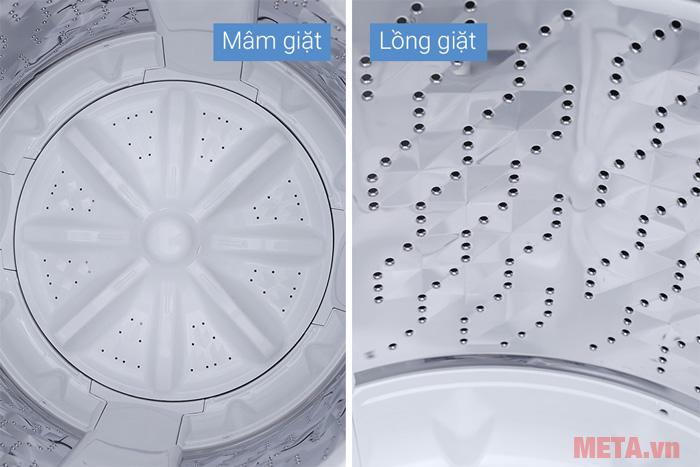 Máy giặt có chế độ vệ sinh lồng giặt giúp máy giặt bền bỉ hơn