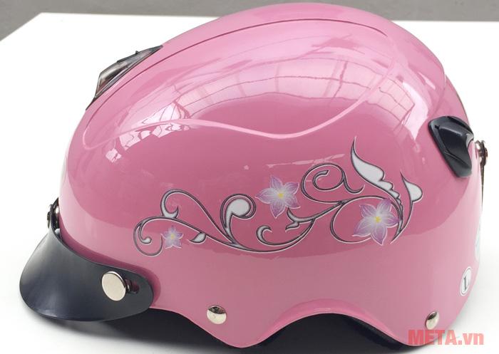 Hình ảnh mũ bảo hiểm Ajino màu hồng