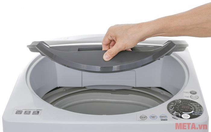 Máy giặt cửa trên 7.8kg Sharp U78GV-H có tay cầm mở nắp máy đóng/mở dễ dàng