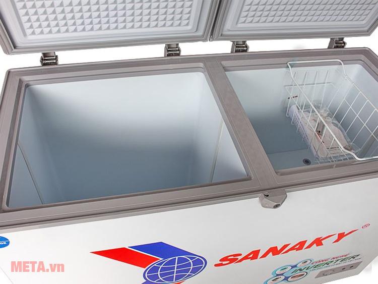 Tủ đông Sanaky được thiết kế 2 ngăn