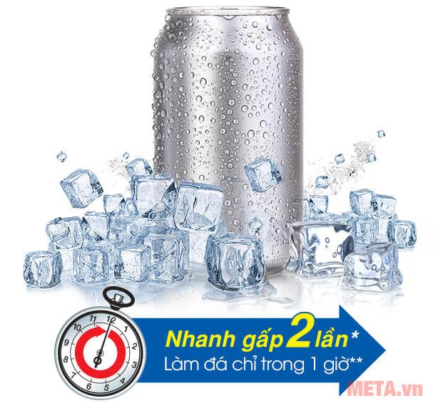 Khả năng làm đá của tủ lạnh Sharp SJ-X176E-SL