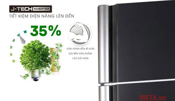 Tủ lạnh công nghệ J-Tech Inverter có khả  năng tiết kiệm điện năng đến 35%