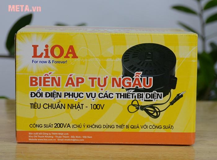 Biến áp đổi nguồn hạ áp Lioa DN002 1P - 200VA
