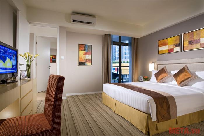 Phòng ngủ chỉ cần máy lạnh công suất nhỏ là đáp ứng đủ nhu cầu điều hòa nhiệt độ trong phòng.