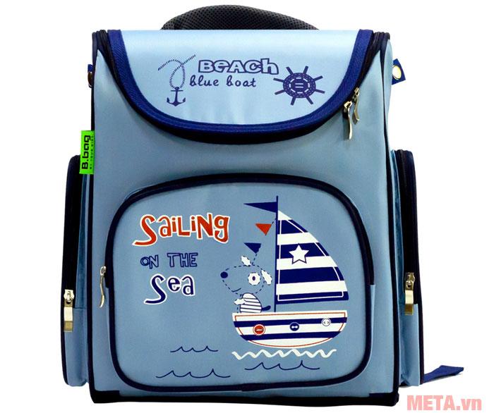 Hình ảnh ba lô chống gù Beach Blue Boat