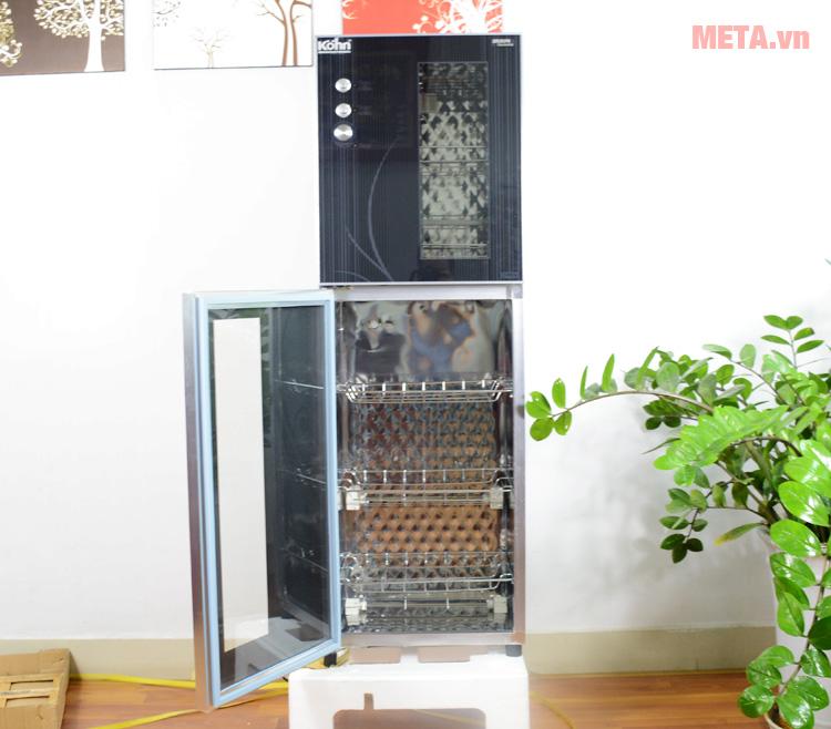 Tủ sấy khử trùng bát đĩa Braun có thiết kế 2 ngăn tiện dụng