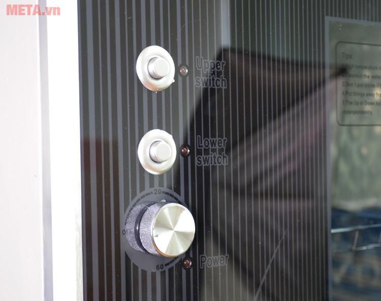 Các nút chức năng của tủ sấy bát đĩa