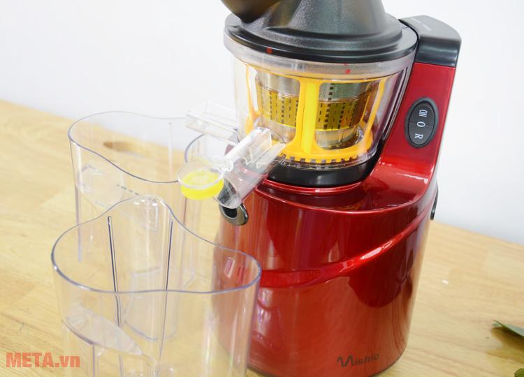2 bình đựng bã và nước ép có dung tích 400 - 1000ml