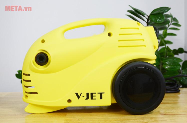 Máy rửa xe V-JET VJ 100 có màu vàng nổi bật